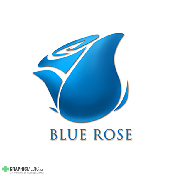 Blue Rose Logo Design By Graphicmedic On Deviantart
