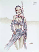 Rey in Grayscale Copics by RichardHuante