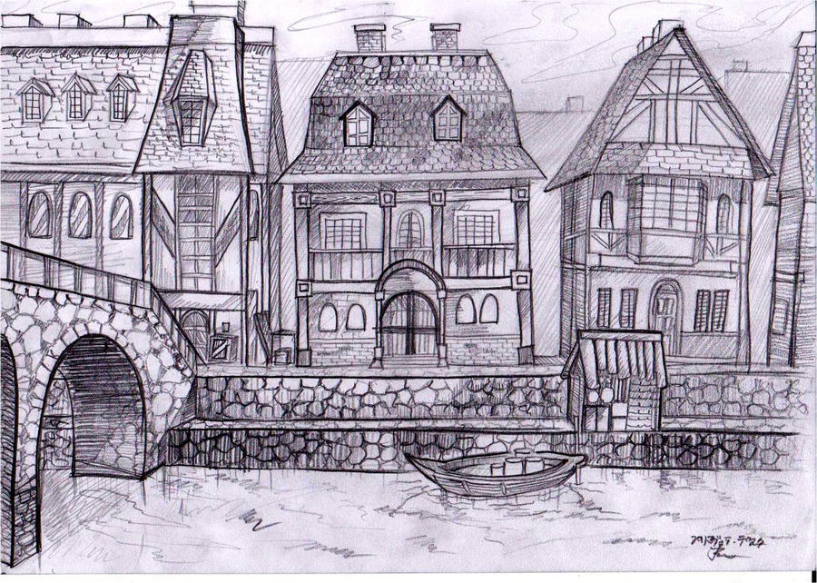 Sketch #7: Fairy Tail Lucy's house by dualiman on DeviantArt