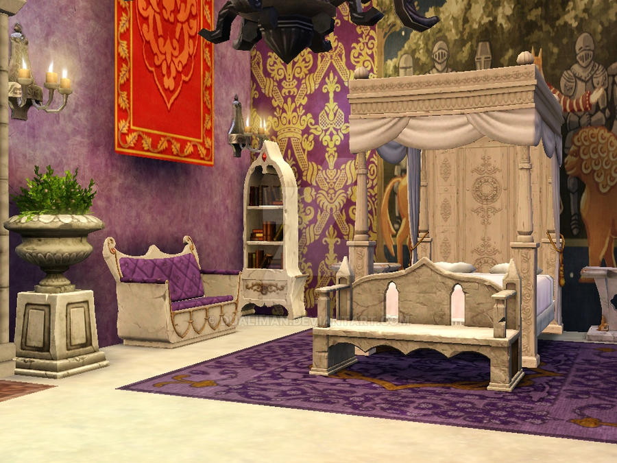 Palace 1 royal master bedroom by dualiman on deviantart Royal purple master bedroom