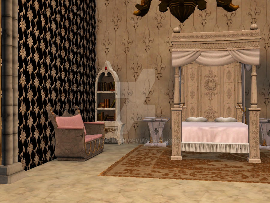 Palace 2 medieval royal bedroom by dualiman on deviantart for Medieval bedroom designs