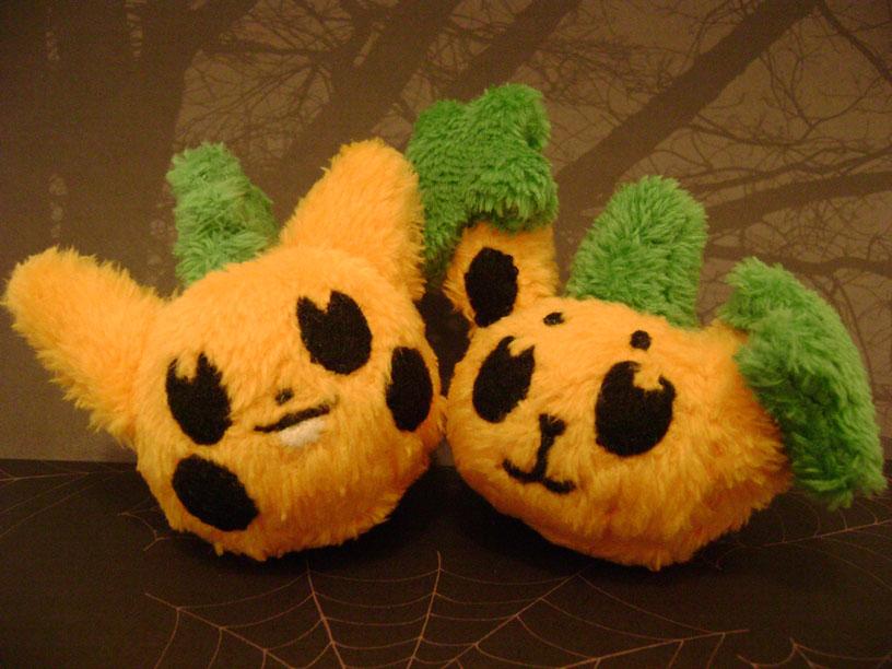 Pachirisu and Buneary Pumpkins by sorjei