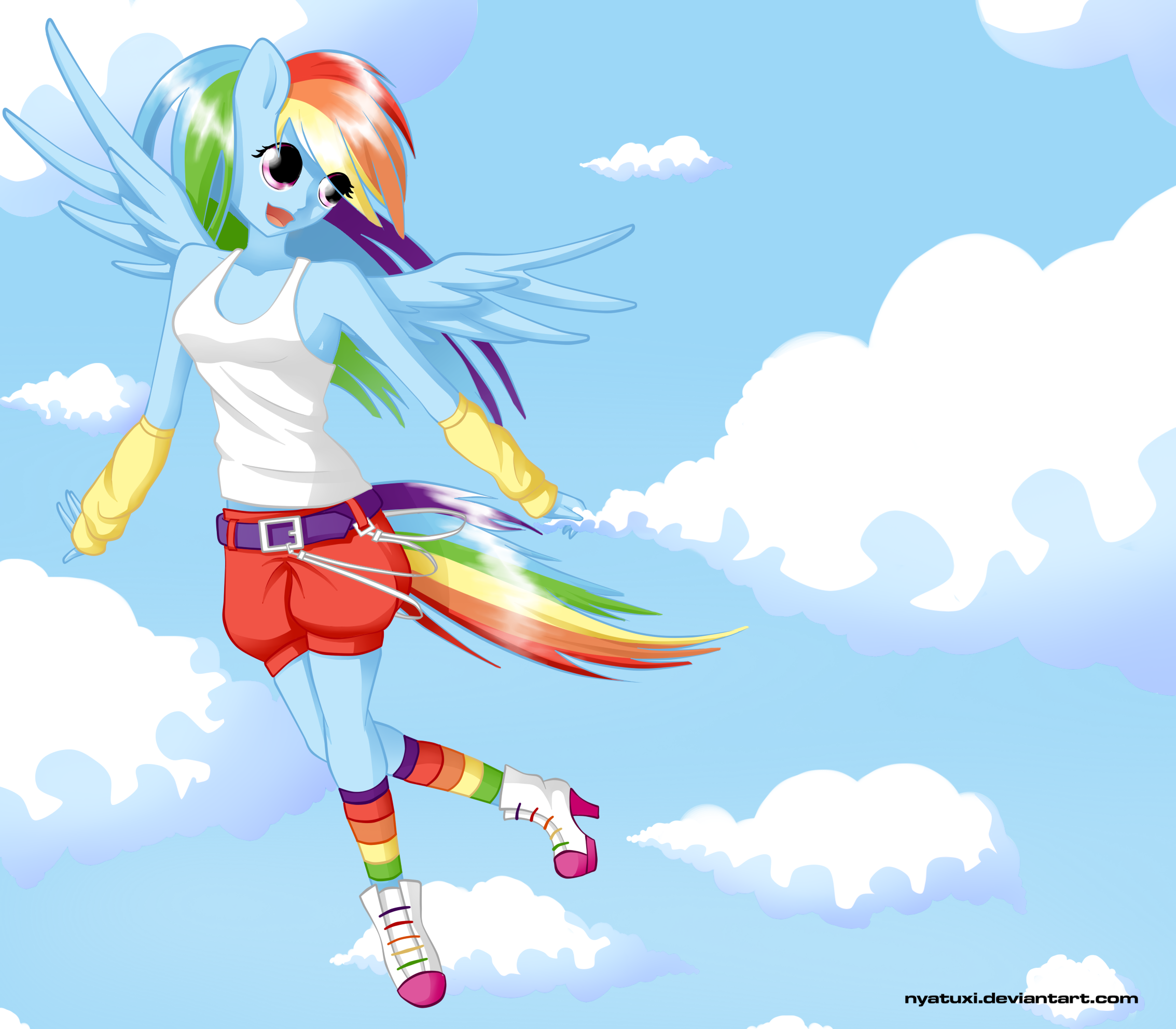 MLP Rainbow Dash - My Sky by Nyatuxi