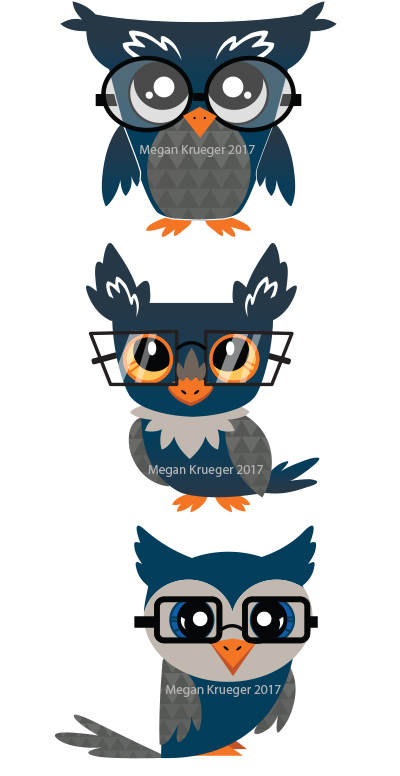 Owl Mascot Concepts by Biodin