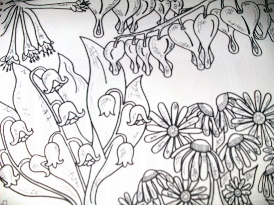 Flower Garden Drawing garden drawingr throughout inspiration