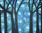 Blue Circles and Trees by ToniTiger415
