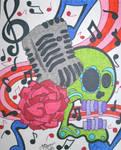 50's Microphone Skull
