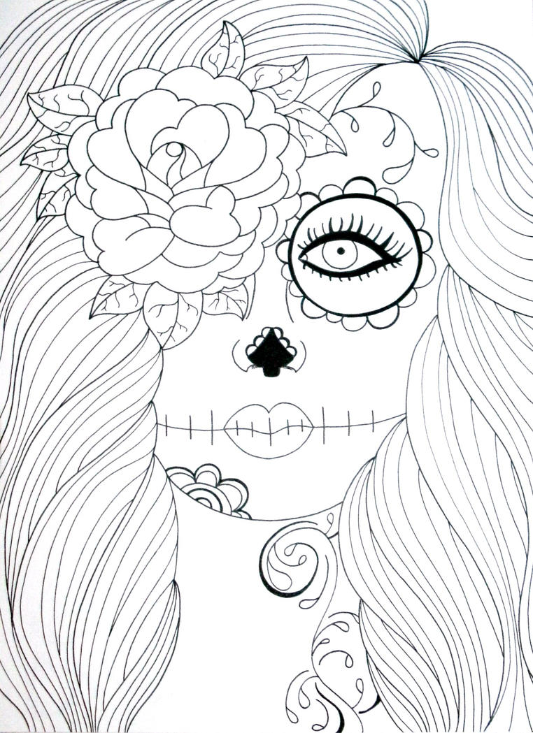 Skull Candy Girl Coloring Pages