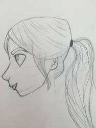 Sketchy Girl by anxiousanongirl