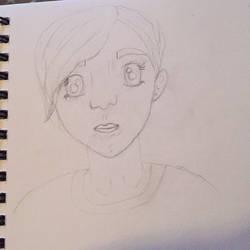 Selfie Sketch by anxiousanongirl