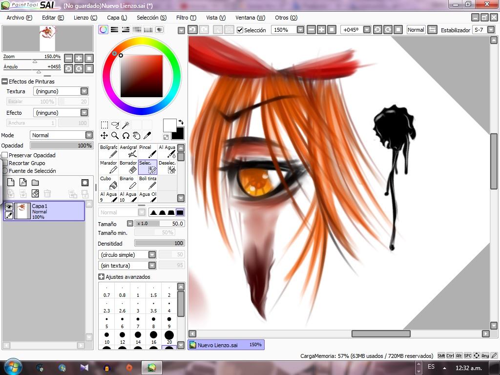 Как сделать арт в paint tool sai из фото