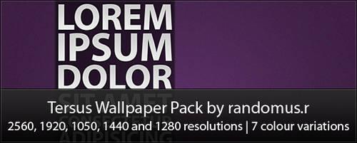 Tersus Wallpaper Pack by randomus-r