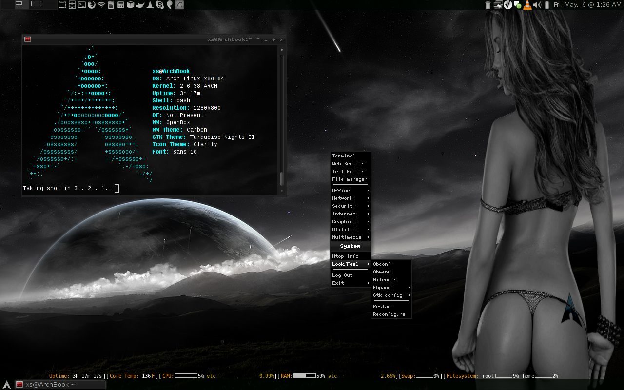 My arch linux desktop by dromatic on deviantart for Architecture 3d linux
