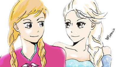 Elsa and Anna by Munnvi
