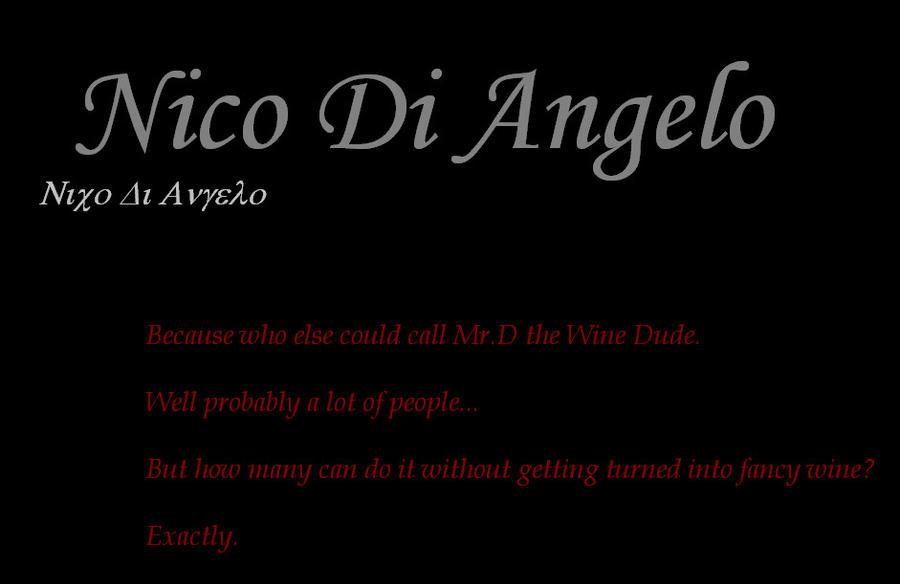 Percy Jackson Nico Di Angelo By Blackandwhitephoto96