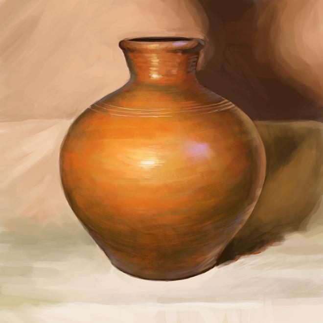 Still Life Clay Vase By Ardariel On Deviantart
