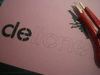 Cutting some simple stencils by delicnets