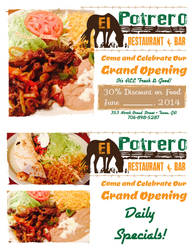 El Potrero Grand Opening Postcard by JPasquarelli