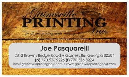 Gainesville Printing Business Card by JPasquarelli