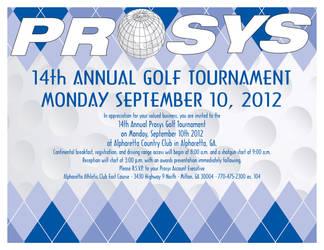 PROSYS Golf 2012 Invitation by JPasquarelli