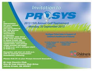 PROSYS 2013 Golf Invitation by JPasquarelli