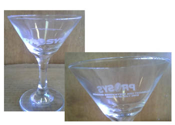 PROSYS 2013 National Sales Meeting Martini Glass by JPasquarelli