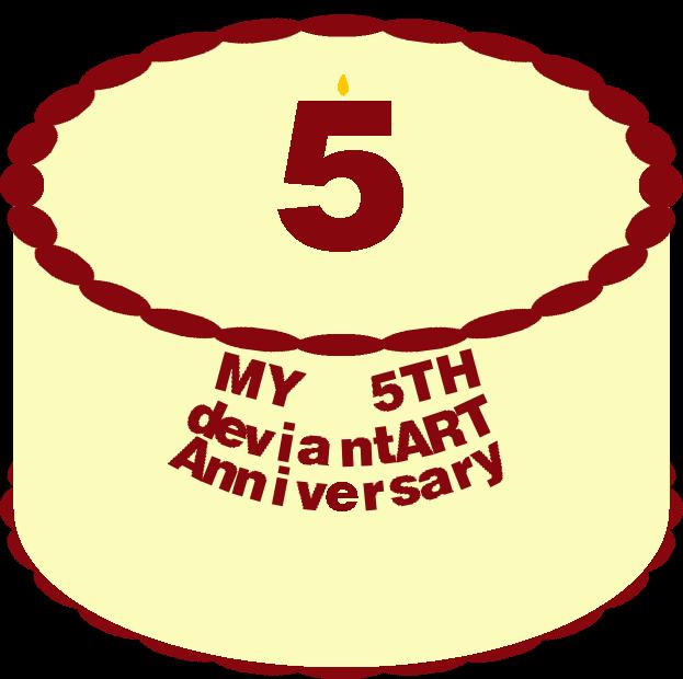 5th Anniversary Cake by mrentertainment