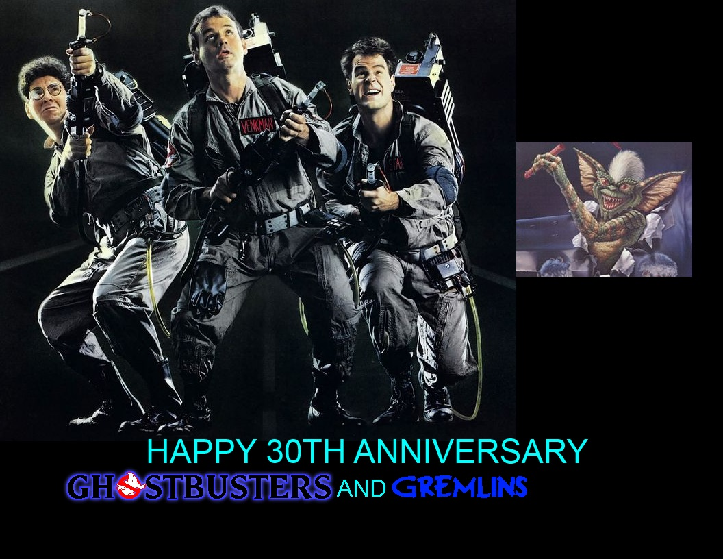 Happy 30th Anniversary Ghostbusters and Gremlins by mrentertainment