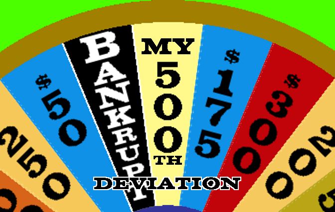 My 500th Deviation by mrentertainment
