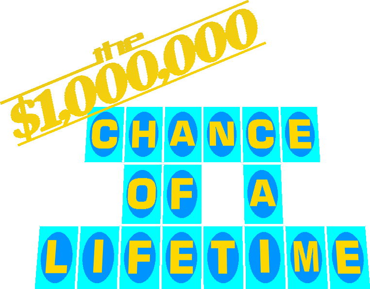 $1,000,000 Chance of a Lifetime Logo by mrentertainment