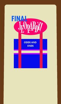 Art Fleming Final Jeopardy! Board