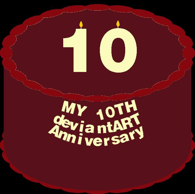 10th Anniversary Cake by mrentertainment
