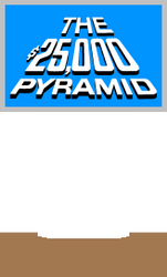 The $25,000 Pyramid Host Podium (Light Blue) 2 by mrentertainment