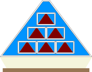 Pyramid Front Game Board (Blue) 3 by mrentertainment