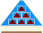 Pyramid Front Game Board (Blue) 3