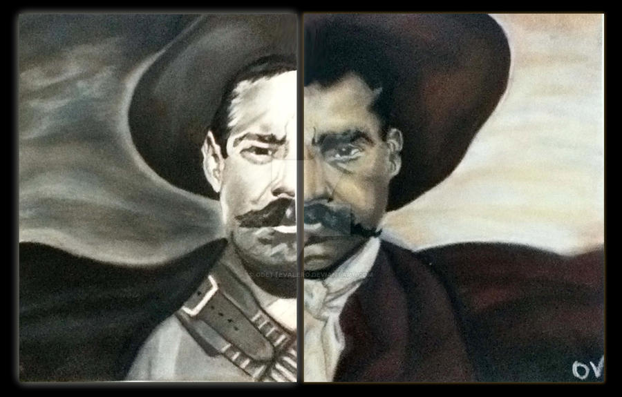Pancho Villa Paintings Black And White