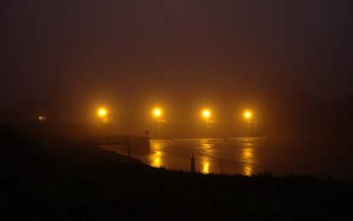 Sluice at night