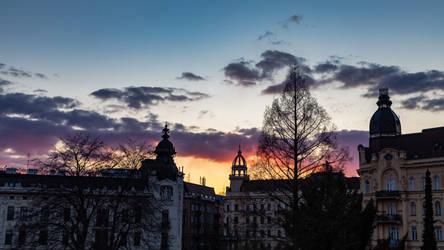 Konecneho square sunset