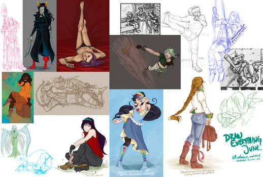 Draw Everything June! compilation by xella