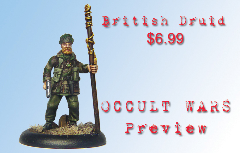 Darkson Designs: AE-WWII:British Druid - Wyrd Miniatures