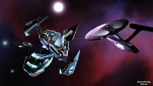 WallpaperQulHov - Finding the Klingon Base by Komaro28