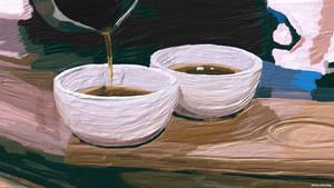 Wallpaper Tea Time by Komaro28
