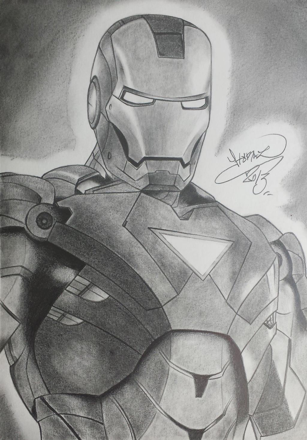 Iron Man Drawing By Erazer-Drawings On DeviantArt