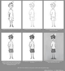 Boy Character Design (Process)