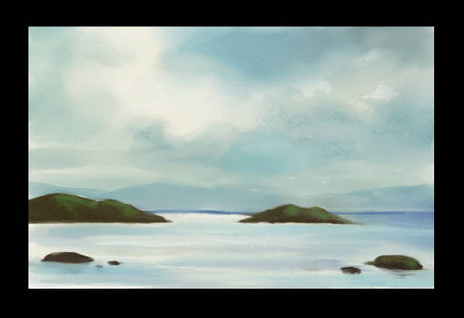 Digital watercolor study in Clip studio paint