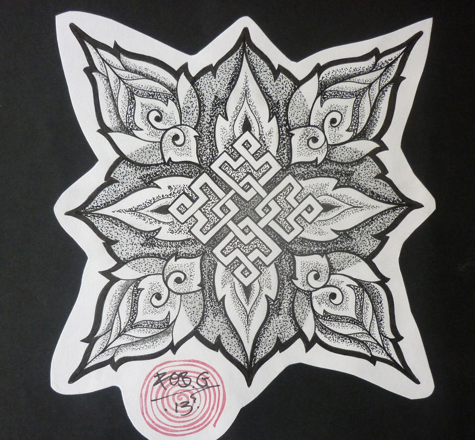 Displaying 17> Images For - Endless Knot Tattoo For Men...