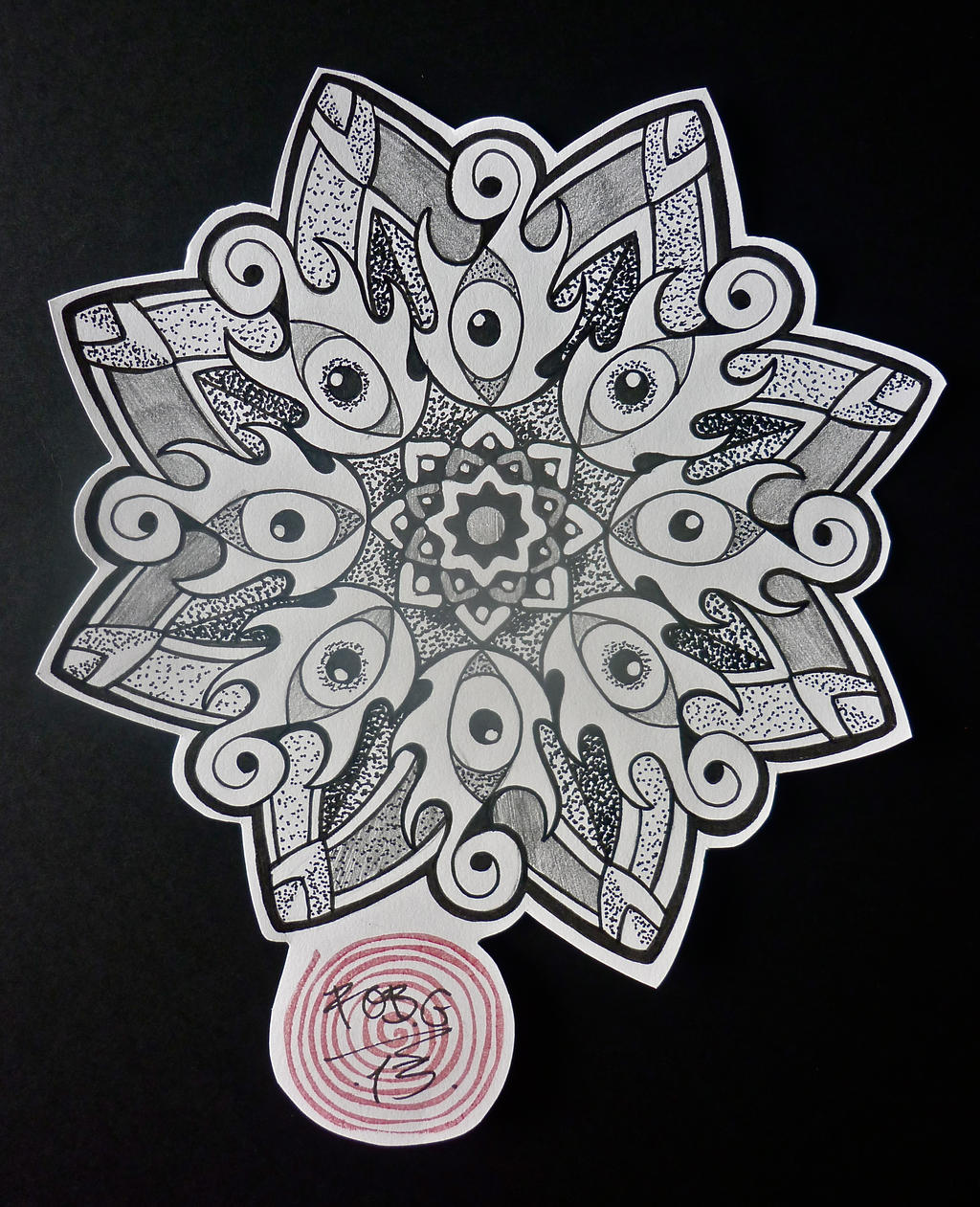 the gallery for gt third eye chakra mandala tattoo