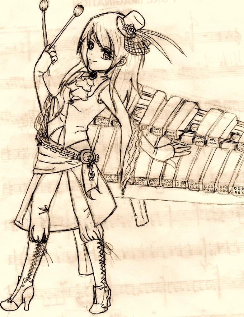 Steampunk Marimba by Charlette-Cheshire