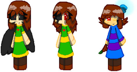 Two Chara's and a Frisk