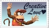 SSBB Diddy Kong Stamp by crafty-manx